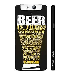 Oppo N1 Beer Love designer mobile hard shell case by Enthopia