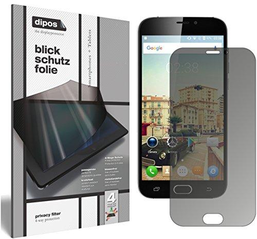 dipos I Blickschutzfolie matt passend für Doogee X9 Pro Sichtschutz-Folie Bildschirm-Schutzfolie Privacy-Filter