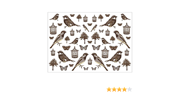 design papier 25 x 35 cm vivigade nature et rétro motifs 8x Decoupage papier