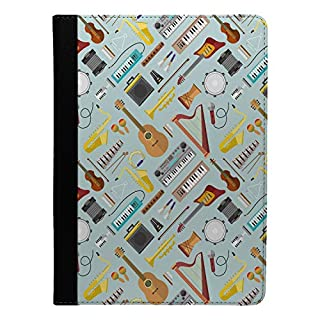 Accessories4Life Music Instruments Pattern Printed Flip Case Cover For Apple iPad 9.7
