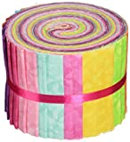 Fabric Editions Textures-Fabric Jelly Rolls, Acrylic, Multicolour