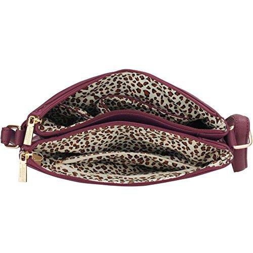 LeahWard® Kreuzkörper Schmetterling Taschen nett Groß Schulter Handtaschen 481 00428-Lila (26x4x27cm)