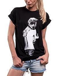 Motorradbekleidung - Motorrad Shirt Aufdruck - Motocross Helm mit Brille