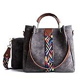 Lightweight Shoulder Handbag - Grey