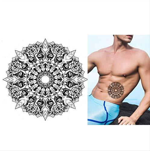 Durch Kostüm Inspiriert Kunst - yyyDL Wasserdichter Tattoo-Aufkleber Temporäres inspiriertes Körpertätowierungs-Aufkleber-Skizzen-Kaleidoskop-Rosen-Blumen-Muster-Tätowierungs-Aufkleber-Entwurf für Körper-Kunst 12.8 * 12.8cm 4pcs