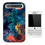 003664 - Oil Paint Canvas Abstract Design Blackberry