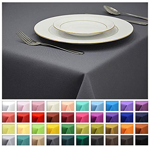 Rollmayer Tischdecke Tischtuch Tischläufer Tischwäsche Gastronomie Kollektion Vivid (Grafit 33, 60x60cm) Uni einfarbig pflegeleicht waschbar 40 Farben (60 X 40 Tischdecke)