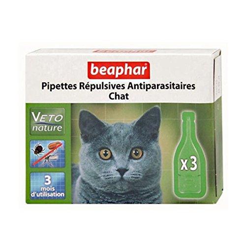Beaphar - Pipetas repulsivas antiparasitarias naturales para gatos
