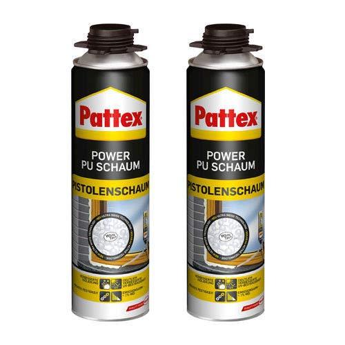 2 x Pattex Power Pistole PU-Schaum 500 ml - White Tech