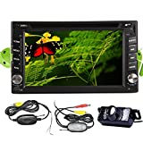 BT Wireless High Def Night PC View LED Camera New Sale Android MP3 4.2 Double Din 6.2 inch Capacitive RDS HD Multi touch Screen Car Logo DVD Player Stereo In Dash GPS Electronics Navi Navigation Support 3G Wifi OBD2 Vehicle Bluetooth DVR 1080P Air Play SD Universal USB AM FM Radio 7 Color Panel Lights Universal VCD Auto