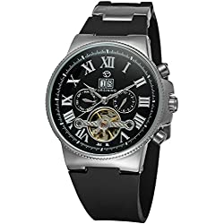 Forsining Men's Automatic Tourbillon WristWatch with Analogue Display FSG2373M3S2