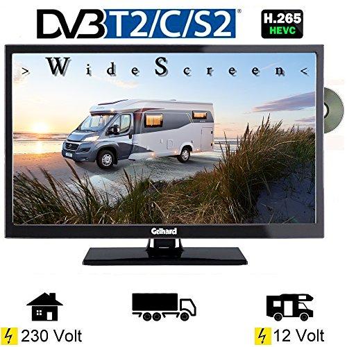 Gelhard GTV2442 LED Fernseher 24 Zoll DVB/S/S2/T2/C, DVD, USB, 12V 230 Volt -