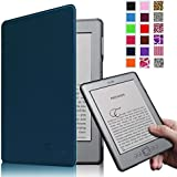 Fintie Kindle 5 & Kindle 4 Ultra Slim Case - The Thinnest and Lightest PU Leather Cover with Magnet Closure (Only Fit Amazon Kindle With 6'' E Ink Display, does not fit Kindle Paperwhite, Touch, or Keyboard), Navy