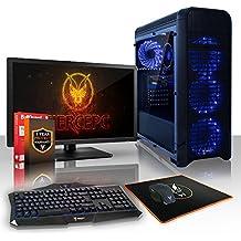Fierce PROTO PC Gamer Bundle - Rápido 2 x 3.9GHz Dual Core Intel Core i3 7100, 1TB Disco duro, 8GB de 2133MHz DDR4 RAM/Memoria, NVIDIA GeForce GTX 1050 Ti 4GB, HDMI, USB3, Wi-Fi, Entrada perfecta en juegos de PC, Windows no Incluido - Teclado (UK/QWERTY), Raton, monitor de 21.5 pulgadas, Garantía De 3 Años (439010)