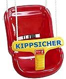 Babyschaukel, kippsicher, Kippschutz, Maße: 37x33x46cm, Sicherheitsbügel, Gurt, PE-Seil, höhenverstellbar, Tragkraft 50kg, PE-Material, Kleinkindschaukel, Schalensitz, Sicherheitsschaukel, Izzy Sport