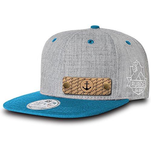 RUBDE Cap2 | Individuelle Snapback Cap Basecap Kappe mit Lederpatch, NFC-Sticker und QR-Code - verschiedene Farben / Größen - personalisierbar | Street-Style Smart-Fashion - Unisex -...