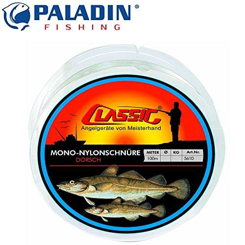 Paladin Classic Mono Nylonschnur 100m 1,40mm 70kg - Vorfachschnur für Meeresvorfächer, monofile Angelschnur für Heilbuttvorfach