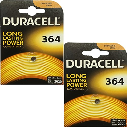 2x Duracell 364 1.5v Silver Oxide Watch Battery Batteries SW621SW D364 V364 SR60 -