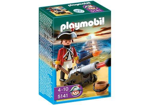 Imagen 4 de Playmobil - Piratas Soldado Con Cañón (5141)