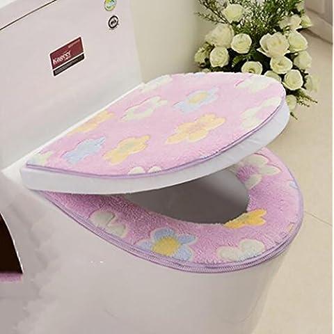 XWG Toilet Seat Mat Cuscino / Toilet / impermeabile Zipper Sit Pad / WC dell'anello del rilievo / Multi-color maniche igienici Sedile opzionale ( colore : 4# ) - Cuscino Dell'anello Set