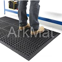 2 X Rubber Workplace Anti Fatigue/ Factory/Kitchen/