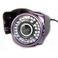 TELECAMERA VIDEOSORVEGLIANZA INFRAROSSI NOTTURNA 48 LED CCD COLORI ESTERNO 3,6mm