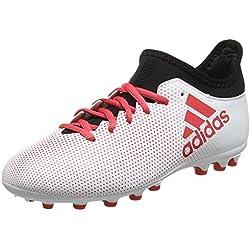 Adidas X 17.3 AG, Botas de fútbol Unisex niño, (Gris/Correa/Negbas 000), 38 EU