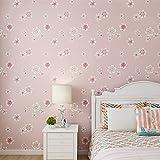 Yosot Idyllische Blume 3D Vlies Tapete Kinderzimmer Junge Mädchen Schlafzimmer Hintergrundbild Rosa