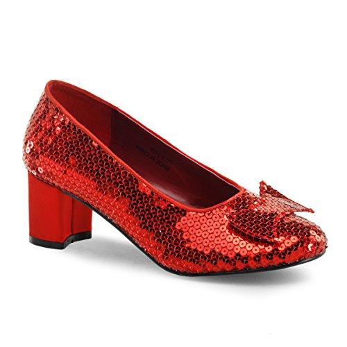 Damen Pailletten Pumps, Glitter Rot, EU 41.5 (US 11) ()