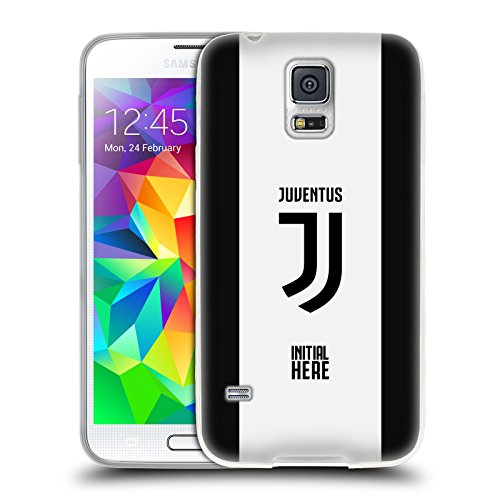 Head case designs personalizzata personale juventus football club strisce in grassetto cover morbida in gel per samsung galaxy s5/s5 neo