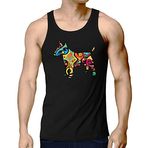 Eddany Psychedelic Bull Terrier Tank Top (Terrier Tank Top Herren)
