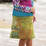 Highdas portatili per bambini giocattoli da spiaggia riceve il sacchetto Mesh sandbox Lontano Bambino sabbiera bagagli Shell Net Pouch