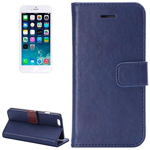 Crazy Horse Texture Horizontale Flip Stand PU Ledertasche mit Card Slots und Halter für iPhone 6 & 6S by diebelleu ( Color : Brown ) Blue