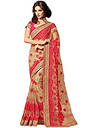 C&H Net Embroidery Saree With Embroidery Blouse