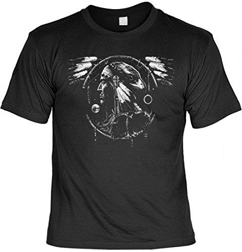 T-Shirt mit Indianer Motiv - Indianischer Kopfschmuck - USA Country Shirt bedruckt, (Kopfschmuck Herren Indianer)