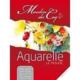 Bloc aquarelle 100 feuilles 325 gr 24x32 cm Moulin du coq