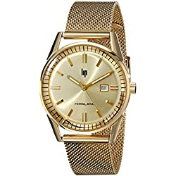 Lip Unisex 1872522 Himalaya Analog Display Swiss Quartz Gold Watch