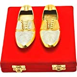 NirvanaCraftVilla Handmade Royal Ash Tray Silver Gold Plated Stylish Ash Tray In Shoes Shaped Can Be Use As Kitchenware And Eid,Holi,Diwali Anniversary Gift,Other Gift Ideas