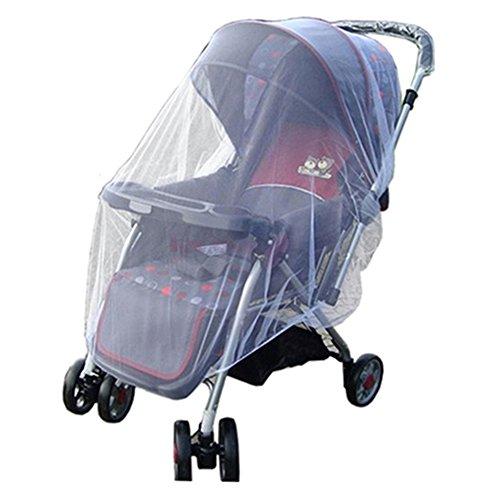 Bluelans® Universal Insektenschutz / Mückennetz für Kinderwagen, Buggy, Jogger und Reisebett | idealer Schutz vor Wespen & Stechmücken dank feinem Netzgewebe | Weiß
