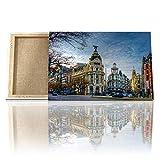 DON LETRA Cuadro en Lienzo de Salón | Gran Vía de Madrid | 60 x 40 cm | Lienzo Impermeable |...