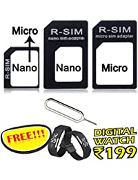 4 In 1 SIM CARD Adapter Nano To Micro - Nano To Regular - Micro To Regular With Eject Pin For Iphone 4S 5 5C 5S...