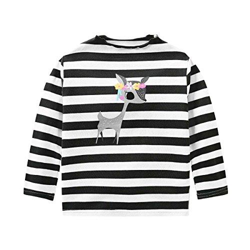 Babykleidung,Honestyi Kleinkind Kinder Baby Mädchen Streifen Deer Printing -