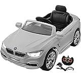 vidaXL BMW Coche Eléctrico Blanco Con Control Remoto Para.Niños Auto De Juguete