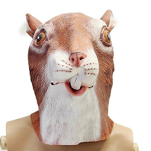 JenNiFer Niedliche Eichhörnchen Maske Gruselig Tier Halloween Kostüm -