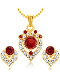 Sukkhi Ritzy Gold Plated AD Pendant Set For Women