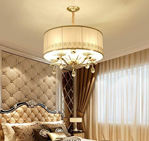 Semplici lampadari di lusso in stile europeo sono la moderna lampada da camera da letto dell'hotel Golden