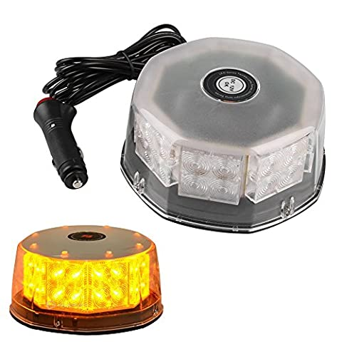 Sedeta Magnetic Round Car Truck Roof Emergency Warning Strobe Light clignotant 32LEDs