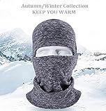Pasamontañas máscara de invierno, súper caliente para motoristas o cómo máscara de esquí. Pasamontañas con tejido catiónico de forro polar para el invierno
