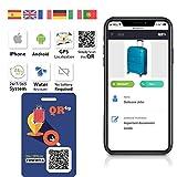 Placa identificativa Inteligente para Maletas/Mochilas con QR GPS QR4G.com