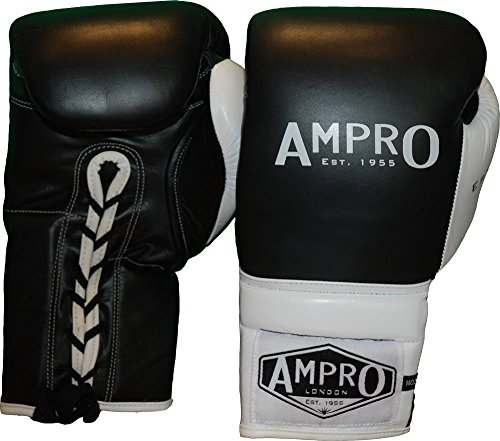 Ampro-Madison-MKII-encaje-hasta-guantes-de-boxeo-negroblanco